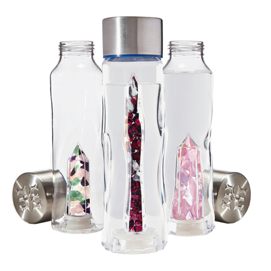 Love - infuse water bottles with crystals